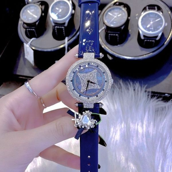 Nơi bán [MUA 1 TẶNG 1] Đồng hồ nữ mặt tròn xoay tự động - Đồng hồ nữ dây da L0ui$ vuitt0n , Size 36 mm ,fullbox - Đồng hồ nữ đẹp - Đồng hồ nữ chống nước