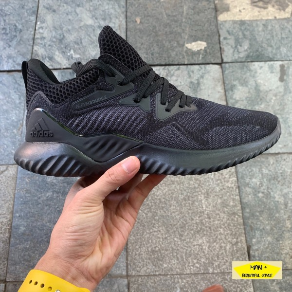 (SALE LỚN + QUÀ TẶNG) Giày thể thao sneaker Alphabounce Beyond 2018 đen giày chạy bộ giày thời trang siêu bền siêu êm