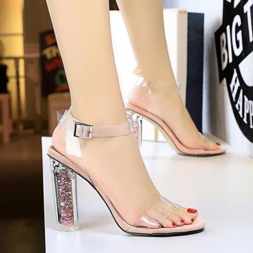 (Bảo hành 12 tháng) Giày cao gót nữ quai trong gót Mika kim tuyến cao cấp - Giày cao gót 10cm - Giày nữ quai Mika trong mềm 2 màu Đen và Hồng - Linus LN1814 giá rẻ