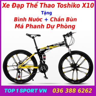 Xe đạp tập thể dục thể thao ngoài trời Toshiko X10 Begasso tặng bình nước + má phanh dự phòng + chắn bùn, bảo hành 1 năm thumbnail