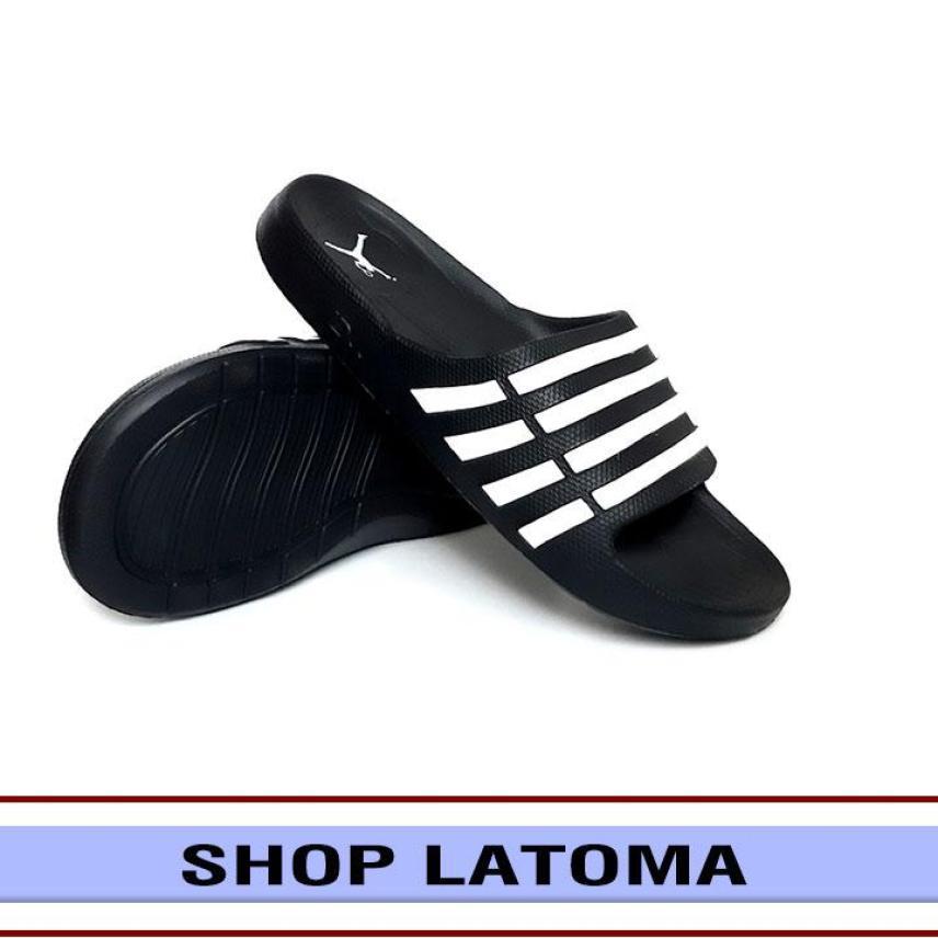 Dép quai ngang, dép nam, dép nữ, dép đi trong nhà hay ngoài trời, quai sọc chưa bao giờ lỗi thời kiểu dáng thời trang cao cấp Latoma TA2315 (Đen) giá rẻ