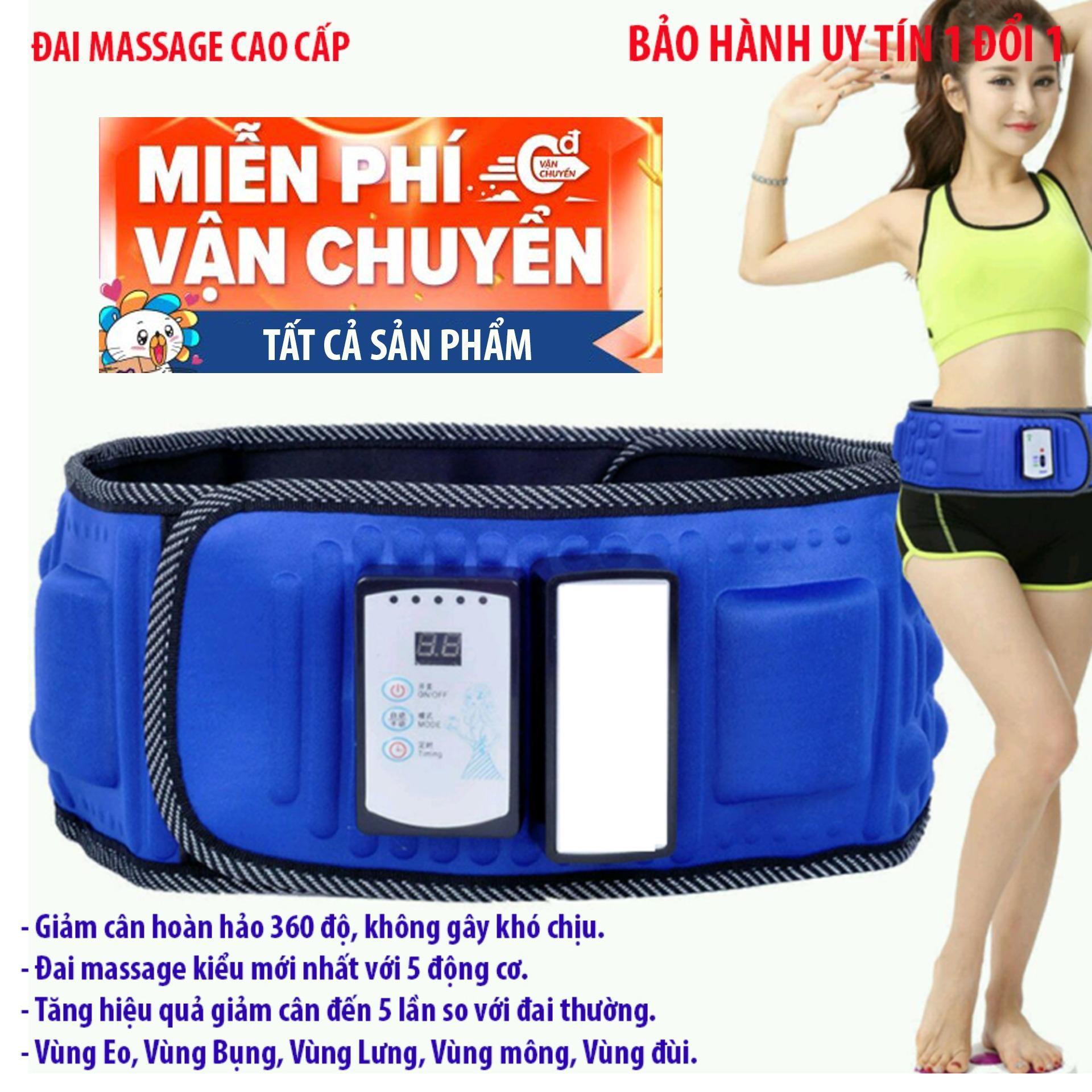 Máy đeo giảm mỡ bụng, May deo tap bung - Đai massage V5, giảm cân hoàn hảo 360 độ, không gây khó chịu - BH 1 đổi 1 bởi VIỆT NAM STORE