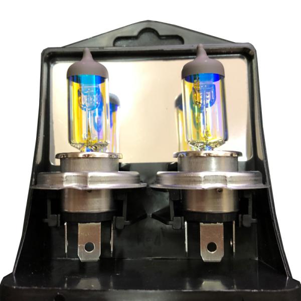 Hộp 2 bóng đèn H4 12v DC chất lượng cao EAGLITE Hàn Quốc (100/90w gold), bóng váng dầu cao cấp chuyên sương mù,thời tiết xấu