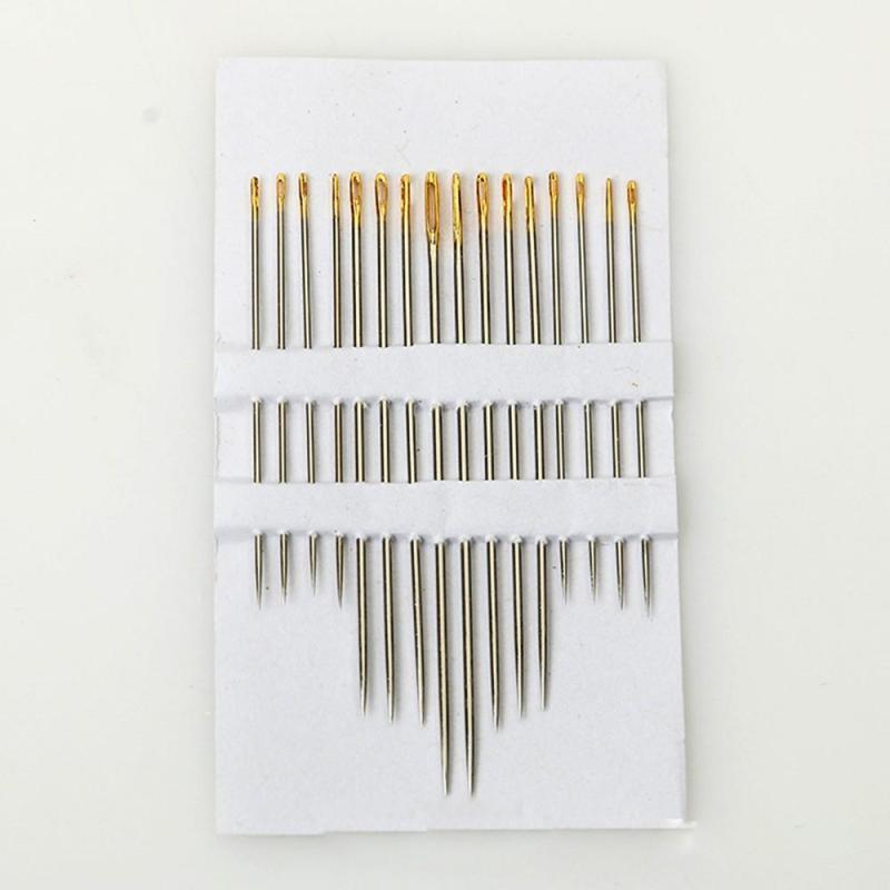 Kim khâu, kim may tay - Bộ 16 kim vàng máy vá, nhiều size kích thước khác nhau giúp cho việc may vá của bạn thêm dễ dàng và nhanh chóng