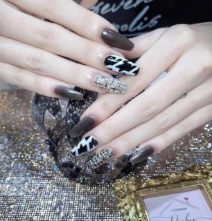 (FREESHIP +QUÀ TẶNG) Móng tay giả giá rẻ nail thiết kế nailbox Móng úp tay móng tay giả màu thạch nude móng giả đính đá thumbnail