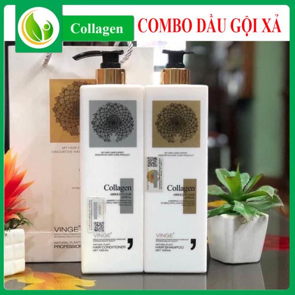 Cặp Dầu Gội Xả Collagen  1000ML x2, Giảm Rụng Tóc, Ngăn Rụng Tóc,Phục Hồi Tóc Hư Tổn