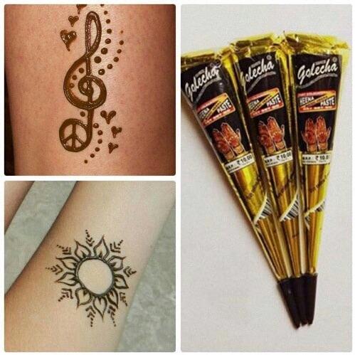 COmBo 3 cây mực xăm henna ấn độ (Tuỳ chọn màu ) chính hãng