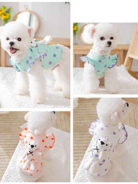 Áo thiết kế cho thú cưng - áo tay bèo nhã nhặn nữ tính siêu điệu dành cho các quý cô chó mèo