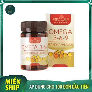 Viên Uống Omega 3 6 9 Mirrolla 100 Viên Cải Thiện Trí Thông Minh Của Trẻ, Cho Tim Mắt Não Khỏe Mạnh. thumbnail