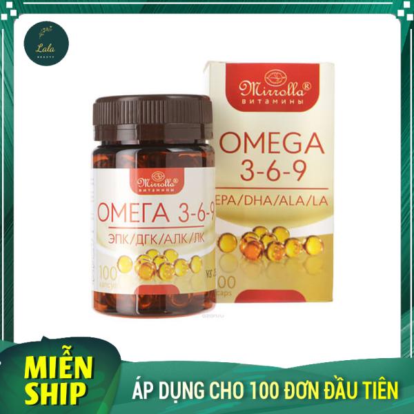 Viên Uống Omega 3 6 9 Mirrolla 100 Viên Cải Thiện Trí Thông Minh Của Trẻ, Cho Tim Mắt Não Khỏe Mạnh.