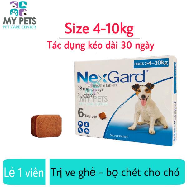 NEXGARD viên nhai ve ghẻ, bọ chét cho chó - Lẻ 1 viên (size 4-10kg. no box)