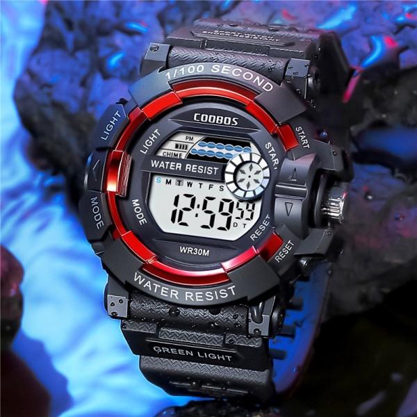 Nơi bán Đồng hồ trẻ em đi bơi COOBOSS  thể thao điện tử đồng hồ chống nước LED dạ quang 1006
