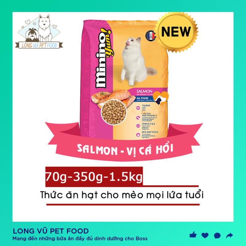 [NEW] Thức ăn hạt cho Mèo mọi lứa tuổi Minino Yum - Vị Cá Hồi - Thức ăn cho mèo
