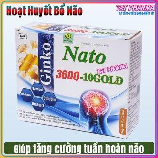 Viên Uống Bổ Não Gink Natto 360 Q10 Gold- Giúp Tăng Cường Tuần Hoàn Và Lưu Thông Mạch Máu Não,Phục Hồi Sau Tai Biến Mạch Máu Não thumbnail