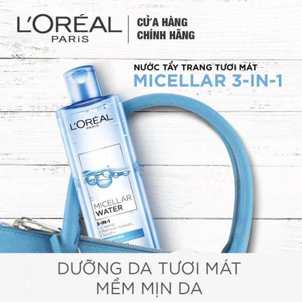 Nước Tẩy Trang Tươi Mát L'Oreal Micellar Water 3-in-1 Refreshing (400ml)