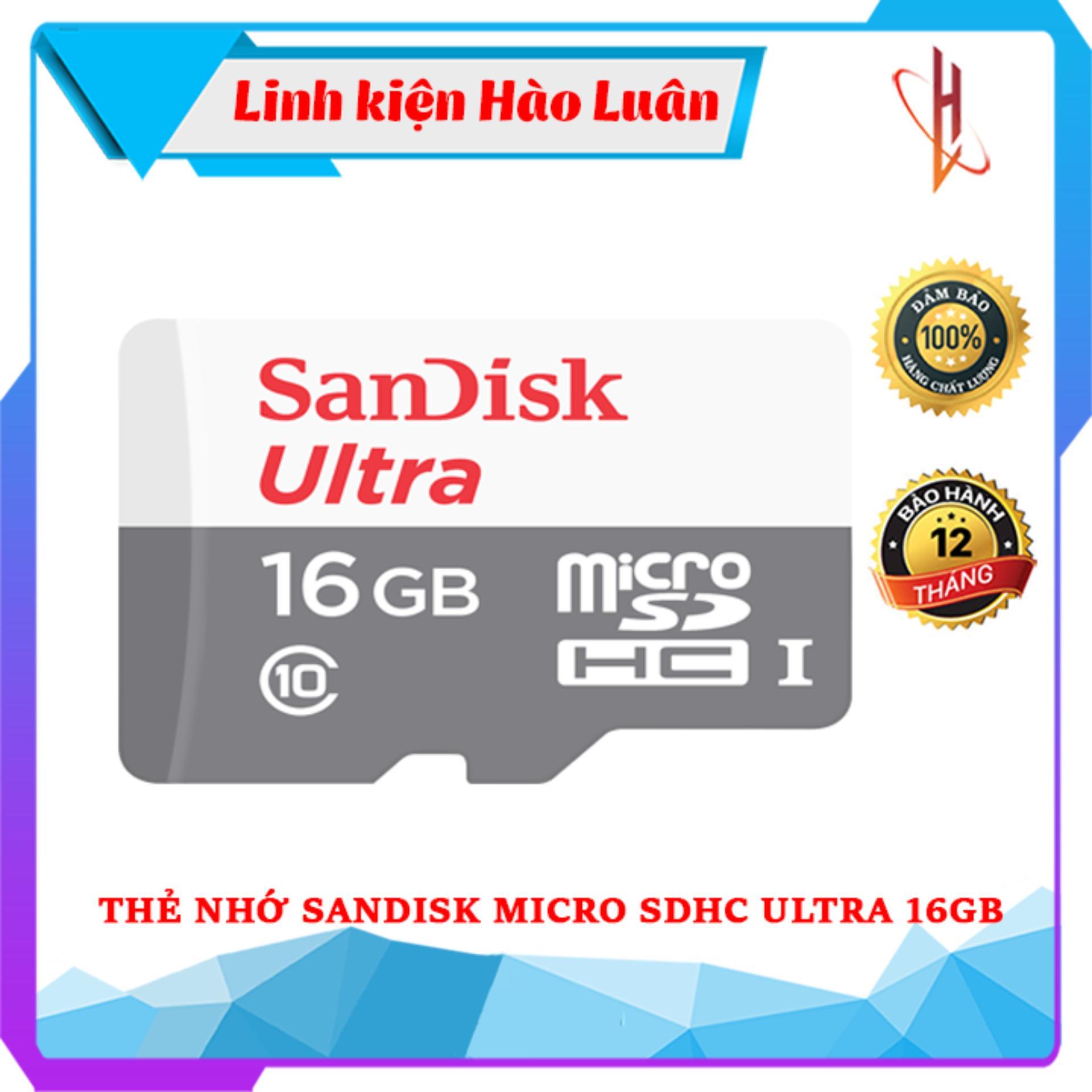 Thẻ nhớ SanDisk MicroSDHC Ultra 16GB/32GB/64G/128GB