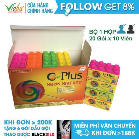 Bổ sung Vitamin C, Giúp tăng sức đề kháng cho trẻ- Thực phẩm chức năng viên ngậm Cplus của Vioba hộp 20 Lego x 10 viên