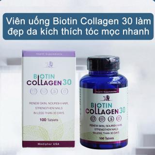 Biotin Collagen 30 - 100 Viên uống đẹp da viên hỗ trợ tóc móng da khỏe xuất chuẩn GMP thumbnail