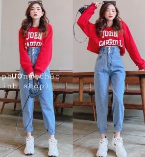 [HCM]Quần baggy jean quần bò chất vải cao cấp chất lượng thời trang trẻ trung lưng cao 1990STORE MS828 thumbnail