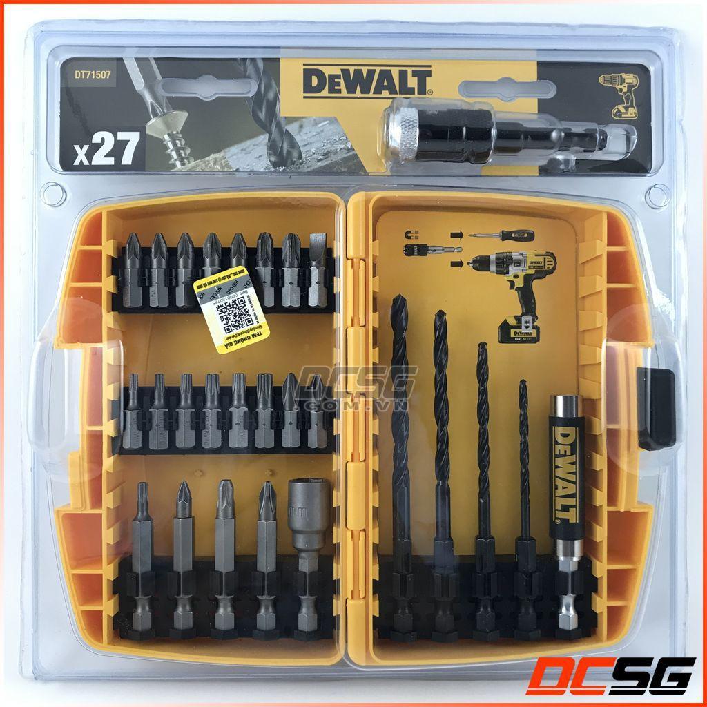 Bộ mũi khoan và vít 27 chi tiết DeWALT DT71507