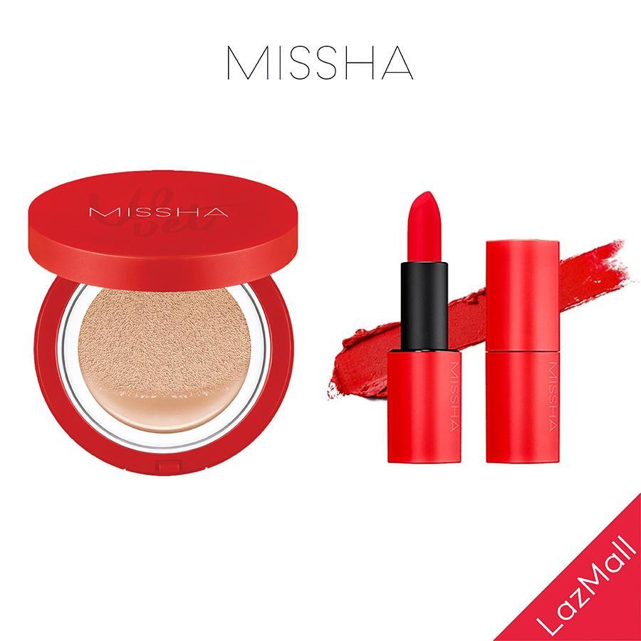 [COMBO] Son Lì MISSHA Dare Rouge 3.5g + Missha Velvet Finish Cushion SPF50+ PA+++ 15g tốt nhất