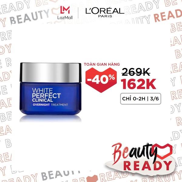 Kem dưỡng trắng mịn và giảm thâm nám ban đêm LOreal Paris WhitePerfect Clinical Night Cream 50ml giá rẻ