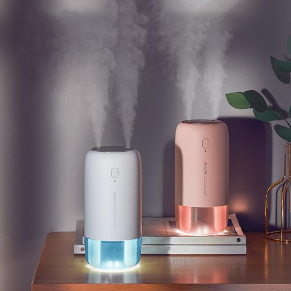 Máy phun sương tỏa hương tinh dầu Jisulife JB08, máy phun tinh dầu tạo ẩm không khí sạc pin không dây, tích hợp đèn ngủ, vòi phun kép công suất lớn, dung tích 500ml -  BH chính hãng