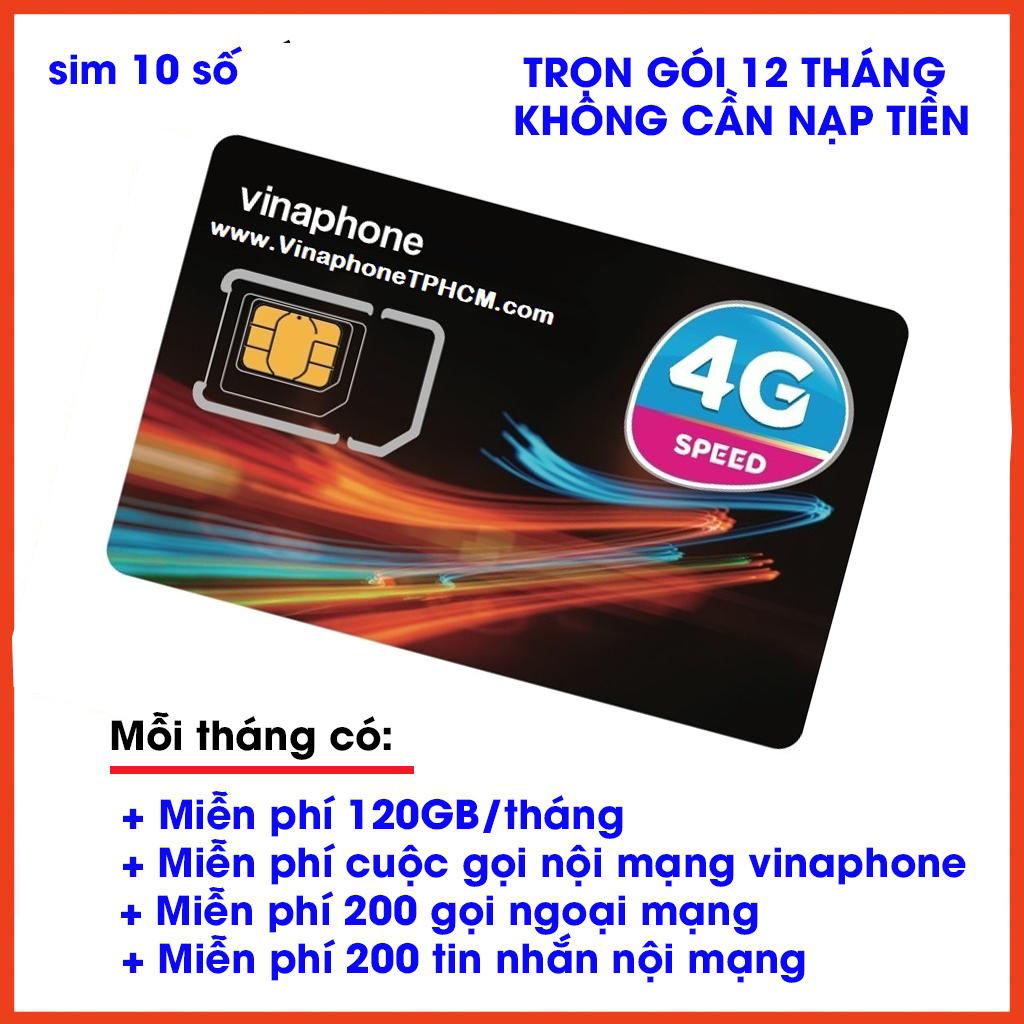 Giá SIM 4G VINAPHONE Vd149 12T trọn gói 12 tháng không cần nạp tiền mỗi tháng Tặng[miễn phí 120GB/tháng+ miễn phí  200 phút ngoại mạng+miễn phí nội mạng +Miễn phí 200 tin nhắn nội mạng] trọn gói 12 tháng không cần nạp tiền