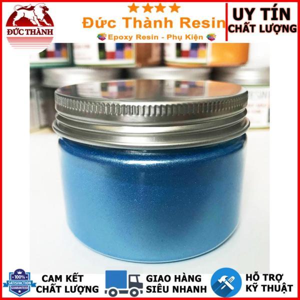 Bột camay nhũ ánh kim pha Epoxy Resin màu XANH DA TRỜI - BLUE 50g