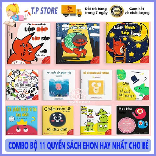 COMBO Bộ 11 Cuốn Sách EHON Cho Bé - Bộ Sách EHON Nhật Bản Phát Triển Trí Thông Minh Cho Trẻ Em Từ 0 - 6 Tuổi ( Âm Thanh, Màu Sắc, Hình Khối, Moi Moi )