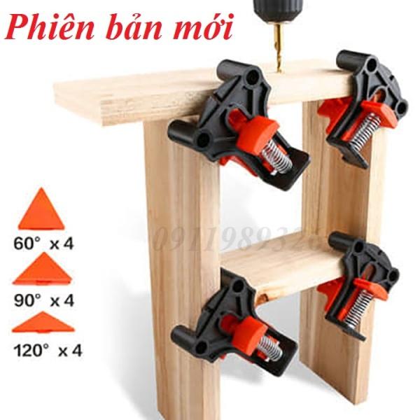 Bộ 4 cảo kẹp gỗ nhanh đa năng vam kẹp 90-60-120 độ kẹp góc vuông góc chữ T phiên bản mới