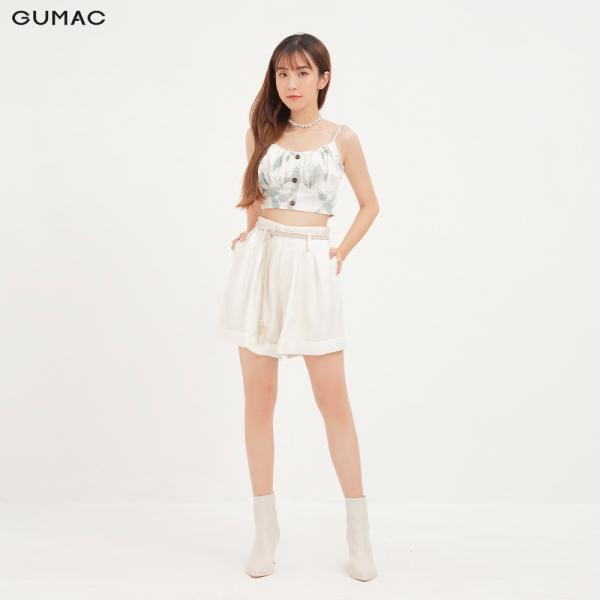 Nơi bán Quần short nữ GUMAC thiết kế xếp ly QA12176