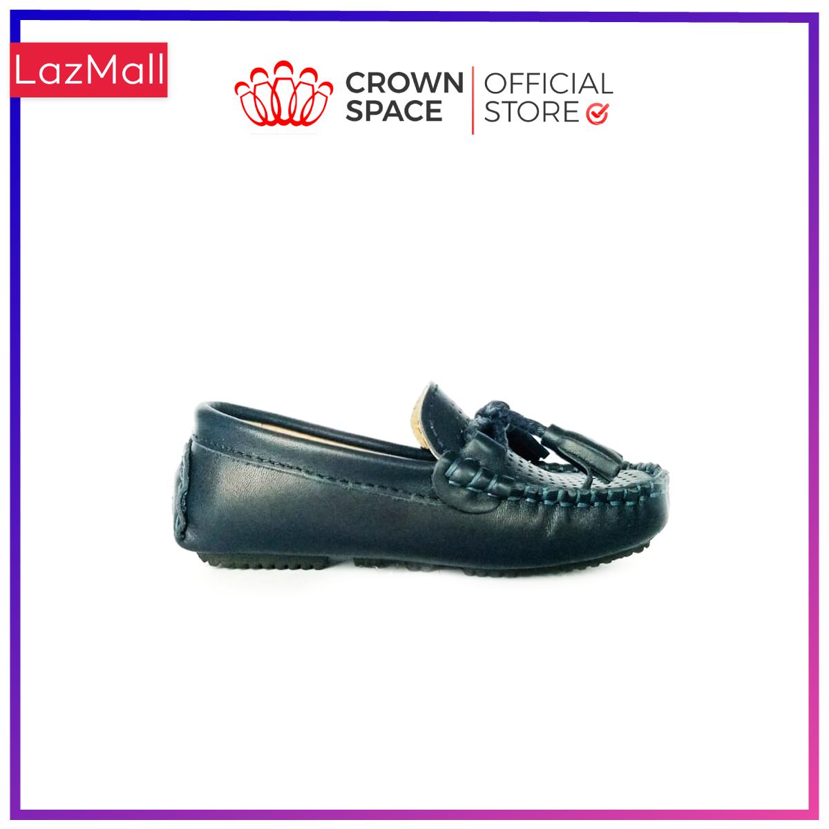 Giày Lười Loafer Bé Trai Đẹp CrownUK George Louis Moccasin Trẻ em Nam Cao Cấp CRUK440 Nhẹ Êm Thoáng Size 26-35/2-14 Tuổi