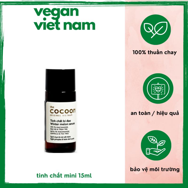 [HCM][ Minisize Dùng Thử ] Tinh chất bí đao làm mờ thâm giúp sáng da cải thiện tình trạng da cocoon viet nam (Winter melon serum) 15ml