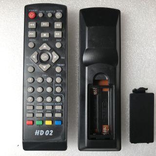 Điều khiển đầu thu HD-02 . Remote đầu chảo Vinasat miễn phí HD02 , dùng cho đầu DVB-S2 T2 Free thumbnail