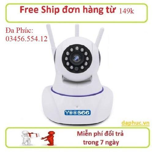 Camera IP Wifi 3 râu 2.0 Mb - Kiwivision - camera chạy phần mềm Yoosee - Camera giám sát - Camera An Ninh