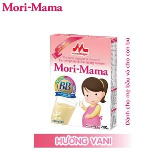 Sữa bầu Morinaga Mori-Mama dành cho phụ nữ thời kỳ mang thai và cho con bú - hương vani 200gr thumbnail