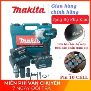 Máy siết bulong Makita 72v, 2 pin, đầu 2 trong 1, 100% dây đồng, không chổi than, TẶNG bộ phụ kiện như hình thumbnail
