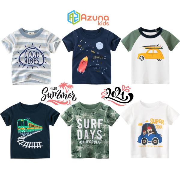 Áo thun bé trai 27Kids áo cộc cho bé chất cotton hàng nhập khẩu - S1013-16