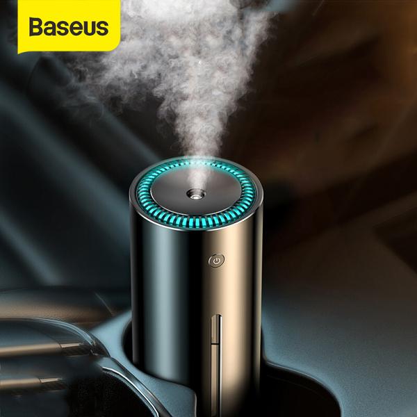 Baseus 300 Ml Máy Tạo Độ Ẩm Cho Xe Hơi Văn Phòng Nhà Cửa USB Siêu Âm Máy Khuếch Tán Tinh Dầu Bình Khuếch Tán Hương Liệu Máy Lọc Không Khí