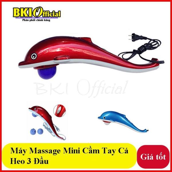 Máy massage cầm tay cá heo mini 3 đầu