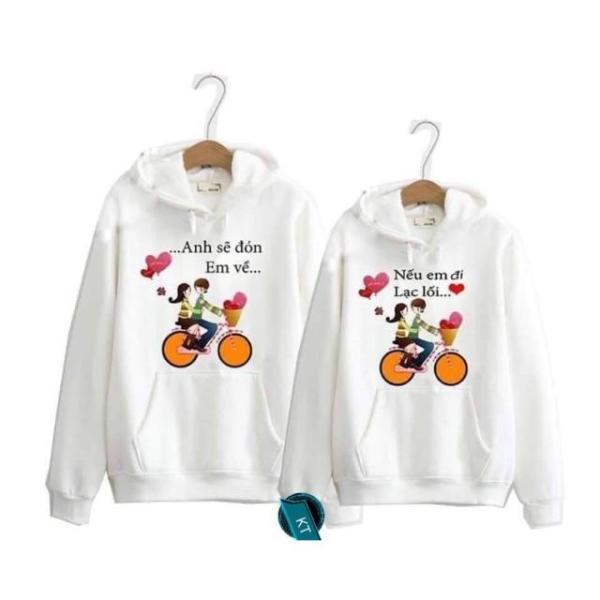 [2 Chiếc] Áo Cặp Đôi Nam Nữ Chất Liệu Cotton Và Tixi Mềm Mát Mịn, Áo Đôi Tình Yêu Phong Cách Teen Hàn Quốc-KIỀU ANH FASHION-Áo đôi anh sẽ đón em về K&T