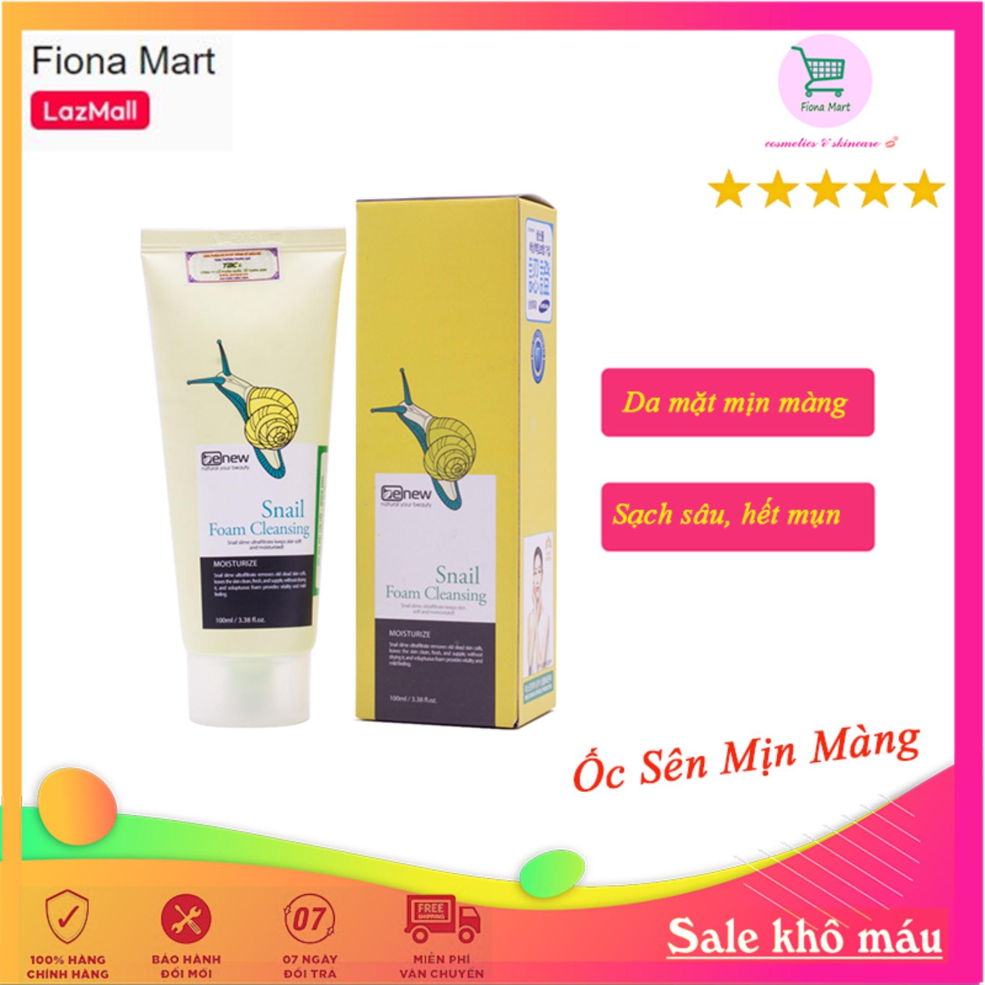 Sữa rửa mặt Ốc Sên Benew Snail trắng da, trị thâm nám và ngăn ngừa lão hóa da cao cấp Hàn Quốc (100ml) - Hàng chính hãng