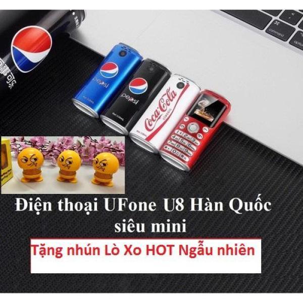 Điện Thoại UFone U8 Hàn Quốc Siêu Mini - Kiểu Dáng Lon Coca - Pepsi Độc Đáo Tặng Nhún Lò Xo Ngẫu nhiên