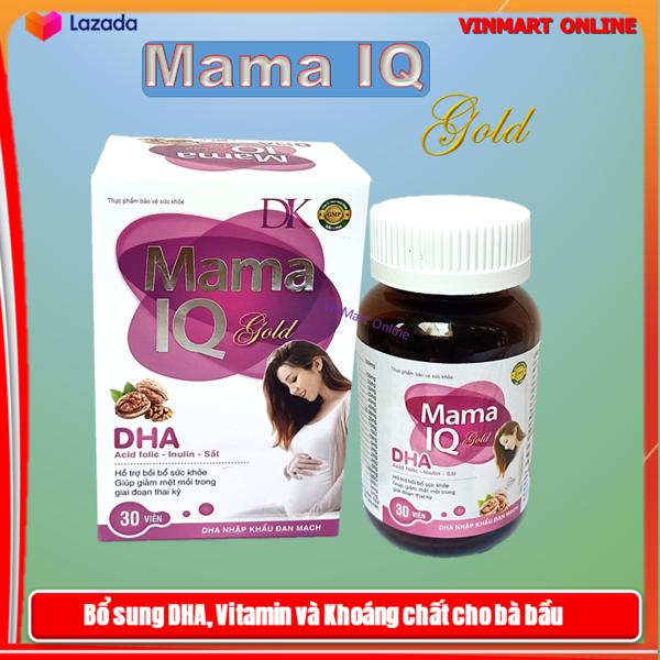 Viên Uống Bổ Sung DHA, Sắt, Vitamin Mama IQ Dùng Cho Phụ Nữ Đang Mang Thai Và Cho Con Bú - Hộp 30 Viên