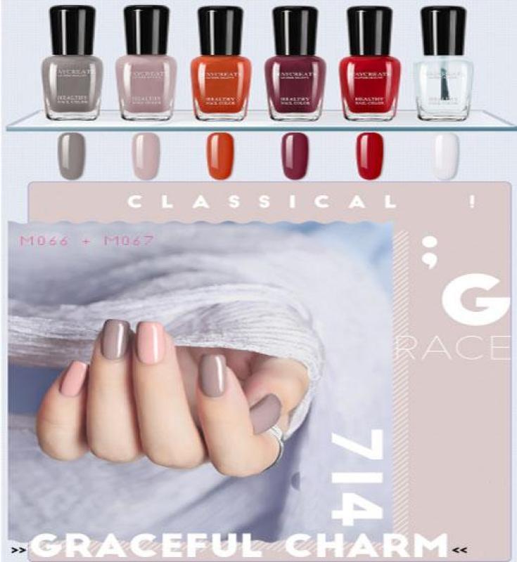 Sét 6 lọ sơn móng tay MayCreate nhanh khô - mã 712- hàng nhập khẩu giá rẻ