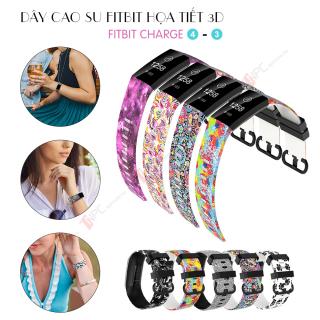 Dây Cao Su Họa Tiết 3D Dành Cho Fitbit Charge 4 3 3 SE thumbnail