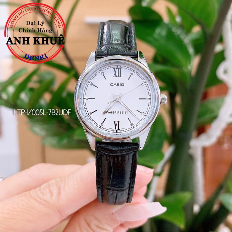 Đồng hồ nữ dây da Casio Anh Khuê LTP-V005L-7B2UDF chống nước 3ATM
