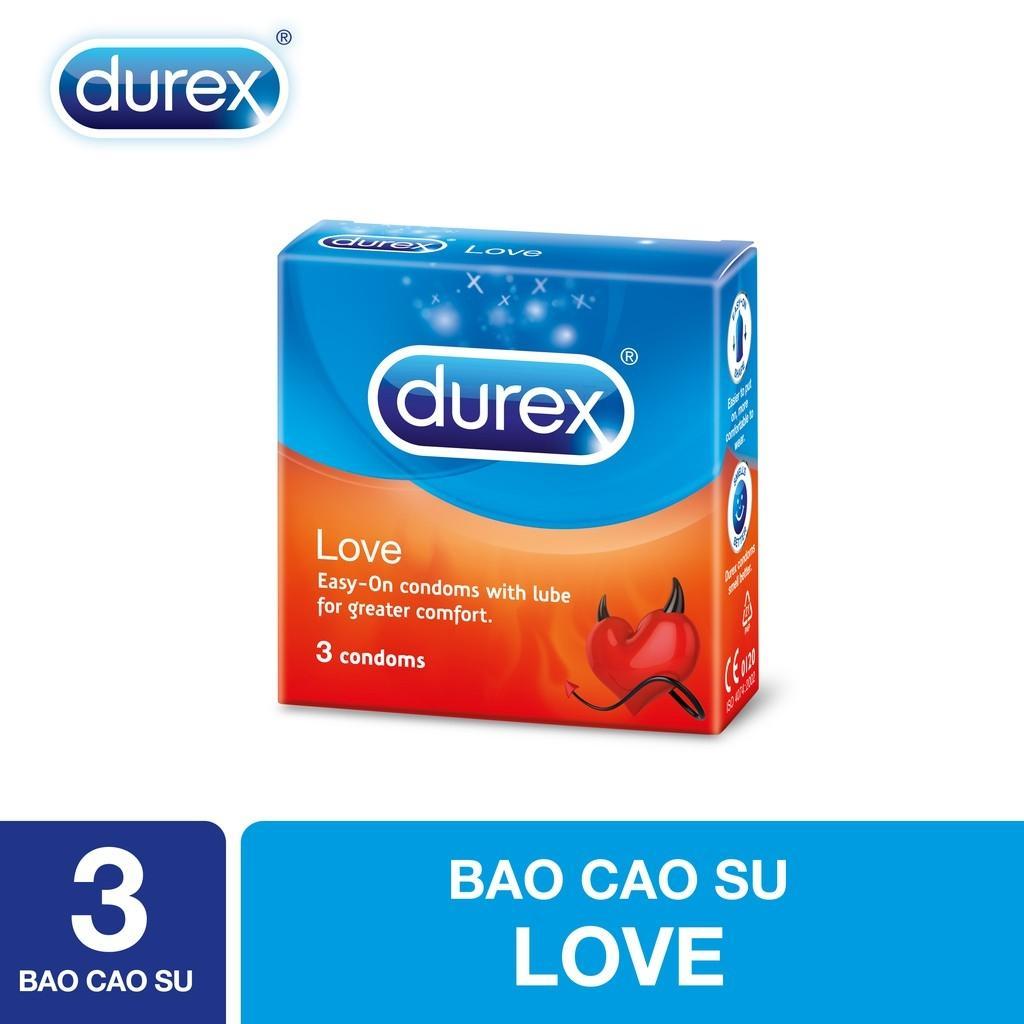 Bao cao su Durex Love 3s - Hãng phân phối chính thức