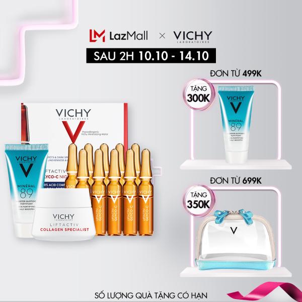 Bộ Tinh chất giảm thâm nám và dưỡng sáng da với Vitamin Cg và AHA Vichy Liftactiv Specialist Glyco-C Ampoule